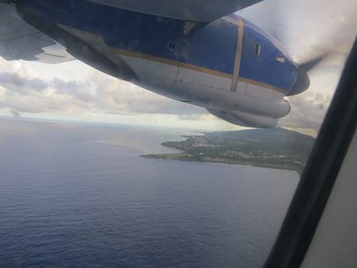 Saipan from the sky!middle of the Pacific! Just a few seconds more!!!