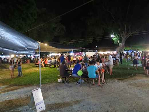 The world famous Thursday Night Street Market at its new location on Beach Road