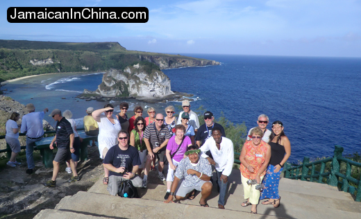 [photo of shore excursion visitors saipan,australians on saipan tour cruise ship] title=