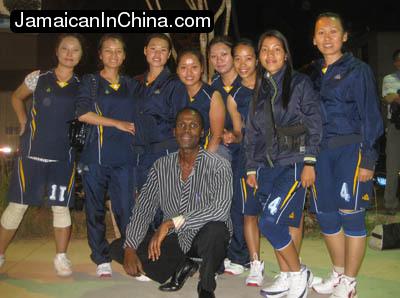 Chinese girl basketball team in Xishuangbanna