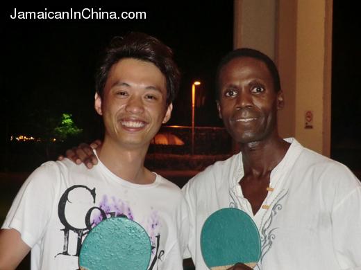 Table tennis with Shanghai tourist on Saipan!