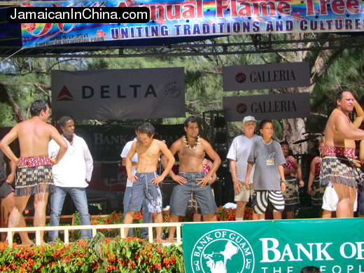 Dancing with the Maori delegation at the Flame Tree Arts Festival on Saipan