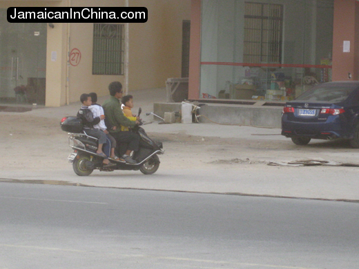 moped for five on Hainan
