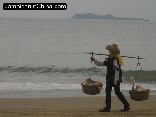 Sanya Beach vendor