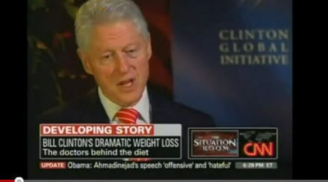 Bill Clinton goes VEGAN! (Now we can hang out together!)