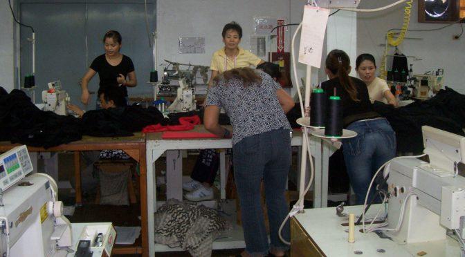 "Video inside a ""Kardashian"" sweatshop garment factory with Chicken Feathers & Garlic Skin video"