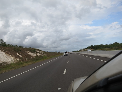 super highway in Jamaica from Mandeville to Kingston