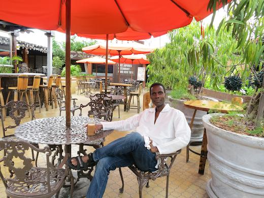 dining tables at the Marketplace, Constant Spring Rodad, Kingston Jamaica