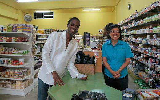 Marie and me at Natural Health, Kingston Jamaica