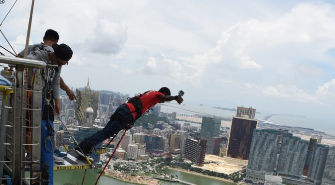 Jamaican Jumps off Macau Tower!