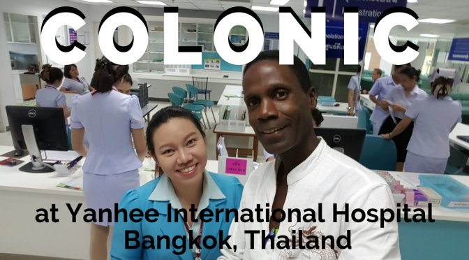 My coffee colonic in Bangkok, Thailand at Yanhee Int'l Hospital!