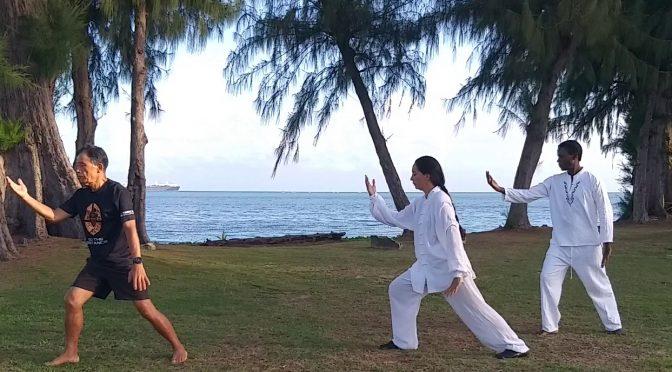 Taiji by the Sea with Shifu 师父 Catherine and me